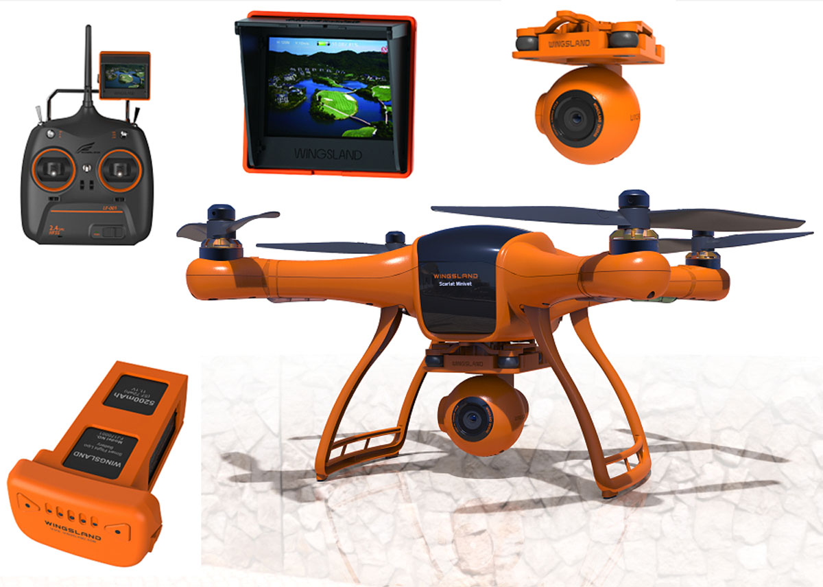 drones drones professionnels wingsland scarlet minivet. Black Bedroom Furniture Sets. Home Design Ideas