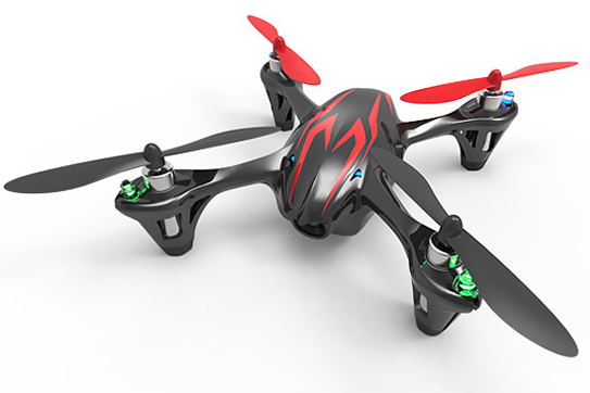 Hubsan x4 H107C with 0.3MP HD Camera  (BLACK/RED)