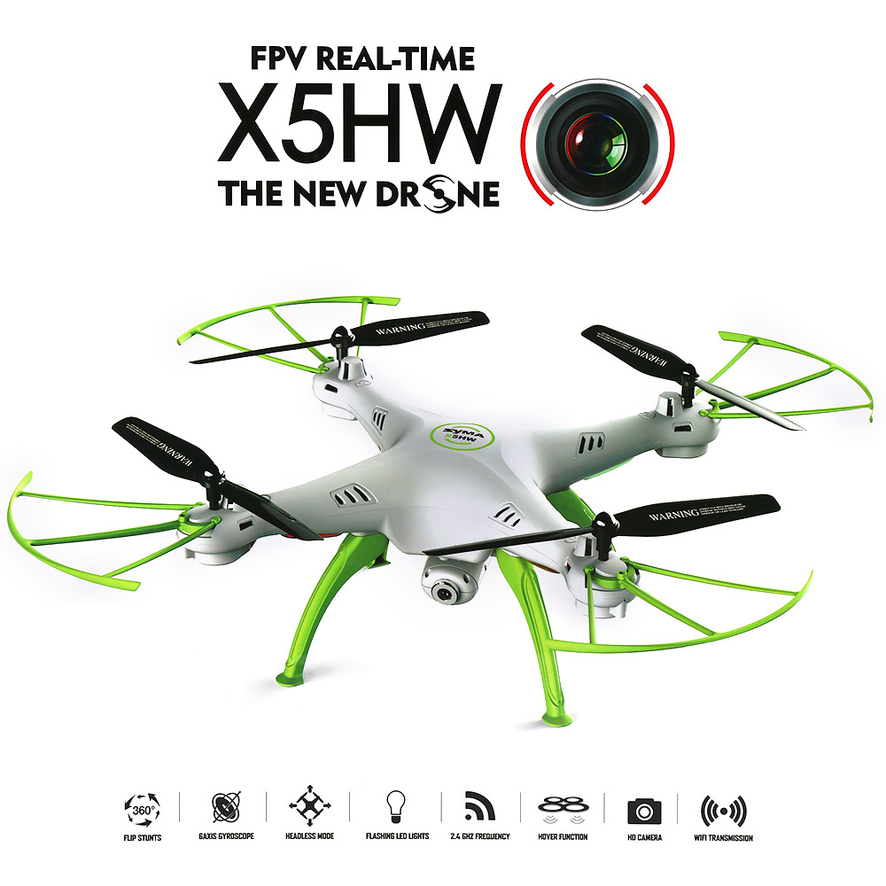 Syma X5HW WIFI FPV with 0.3MP HD Camera (WHITE) - EXPRESS DELIVERY
