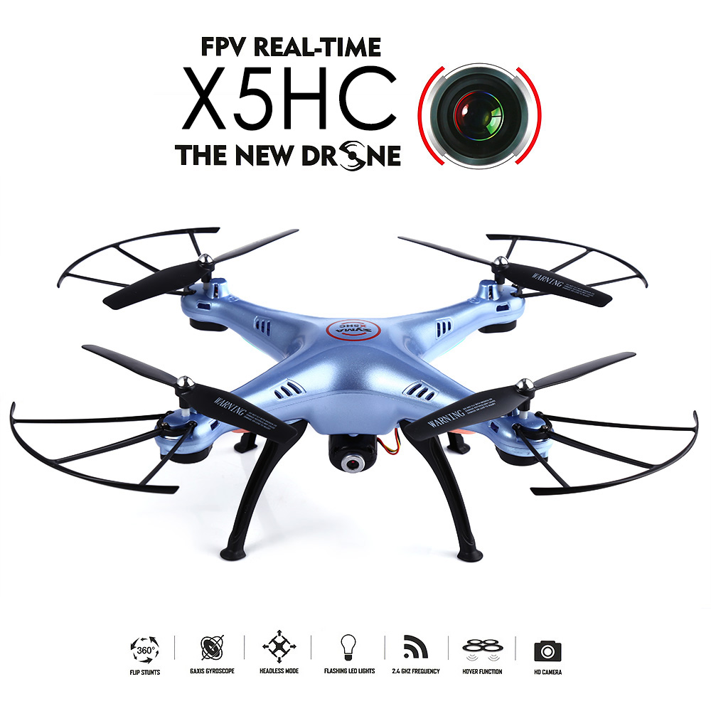 Syma X5HC with 2.0MP Camera (BLUE) - EXPRESS DELIVERY