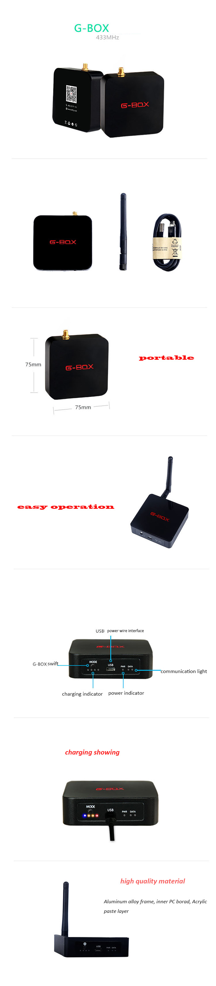 Boitier de Communication Bluetooth G-BOX version Android pour Ehang GHOST