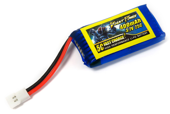 Batterie Giant Power 25C 3.7V 400mAh Haute Performance pour Walkera V120D06 / 00D08 / 00D03BL / MINI CP