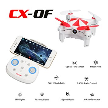 Cheerson CX-OF FPV WiFi avec Caméra - Version RTF ROUGE