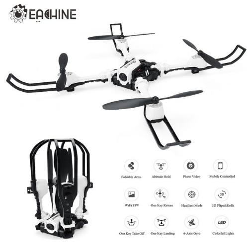 Eachine E53 FPV WiFi avec Caméra 0.3MP Selfie Drone Pliable - Version RTF