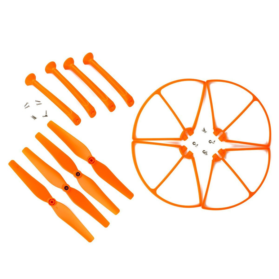 Pack Hélices & Protections & Trains d'Atterrissage pour Syma X8C X8W X8G (ORANGE)
