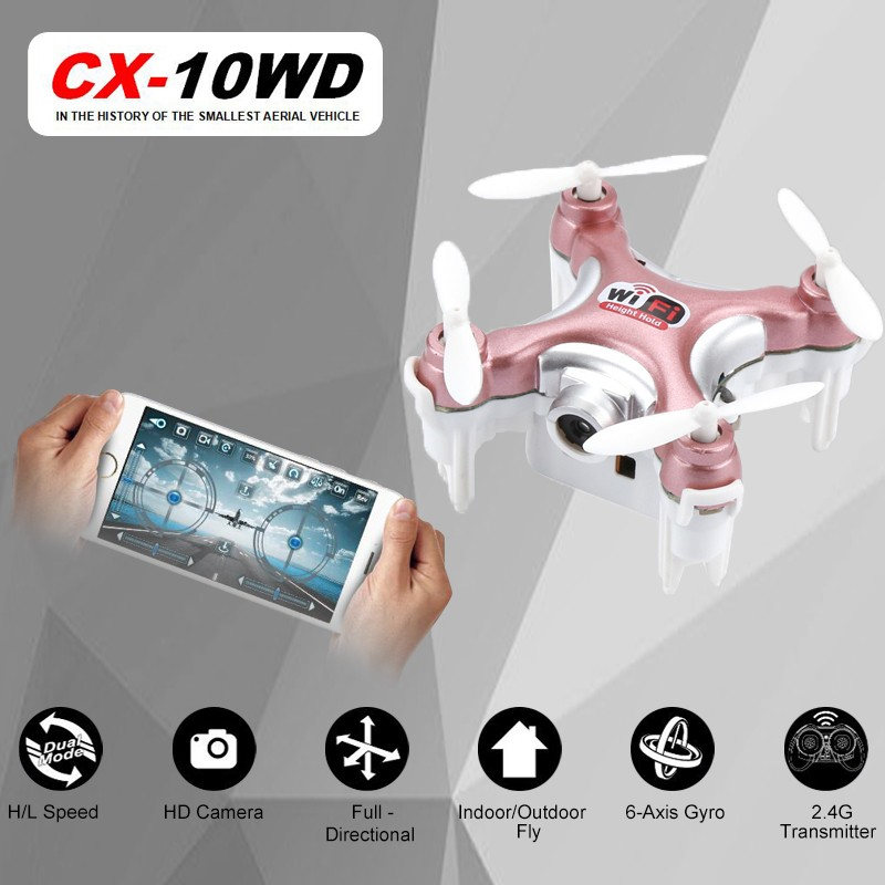 Cheerson CX-10WD Mini FPV WiFi (Rose)