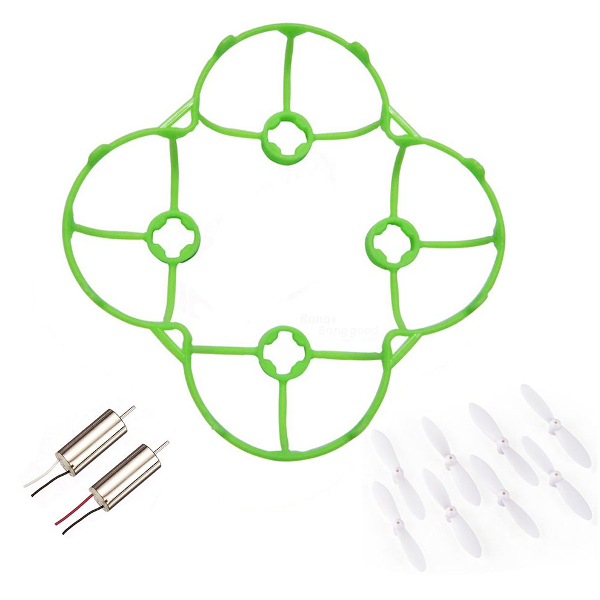Cheerson CX-10 CX-10A Parts Pack Protection Cover � Motor � Blade (Green/White)