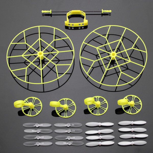 Protection Wheels w/ 4 Pairs Propellers For Cheerson CX-10 CX-10A JJ810 JJ820