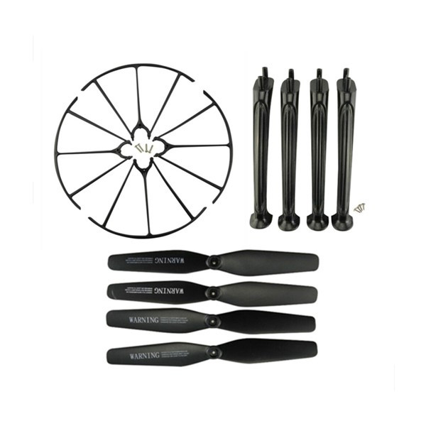 Pack Protector & Landing Gear & Propeller for Syma X5HC X5HW (BLACK)