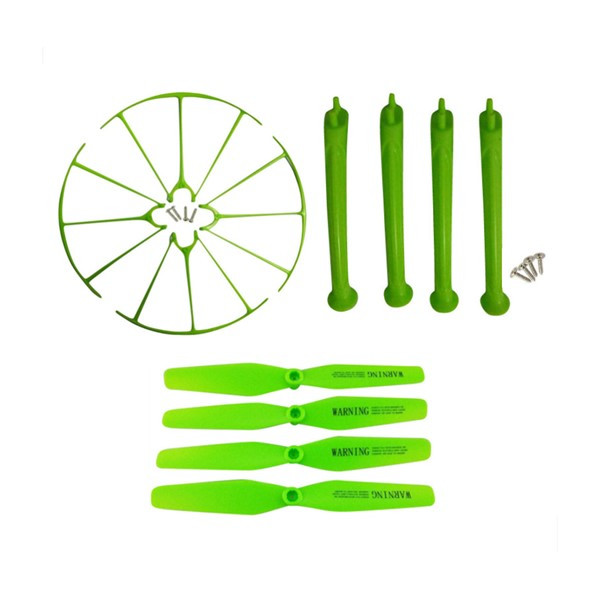 Pack Protector & Landing Gear & Propeller for Syma X5HC X5HW (GREEN)