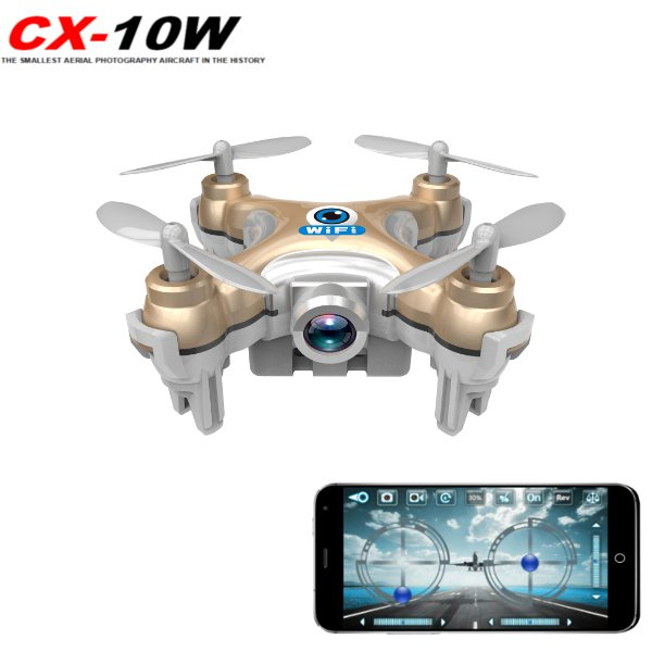 Cheerson CX-10W WiFii FPV with 720P Camera (Golden) - EXPRESS DELIVERY
