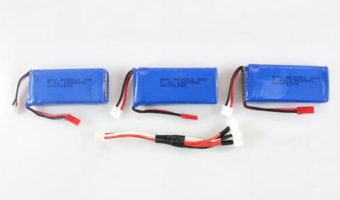 3 Batteries 25C 7.4V 1300mAh & Câble de Charge 3 en 1 pour MJX X101