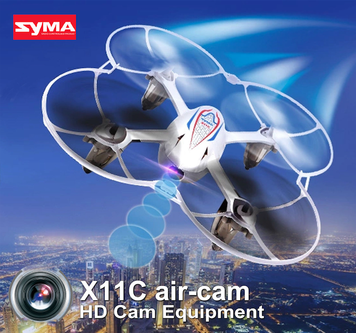 SYMA X11C Air avec Camera HD 2.0MP  (BLANC)