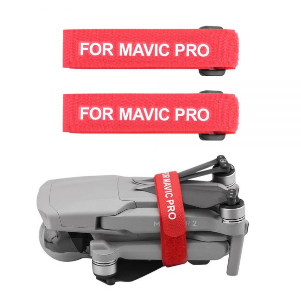2 Sangles Stabilisatrices Protection Helices pour DJI Mavic Pro Mavic Air 2 Mavic 2 Pro Zoom Spark ROUGE
