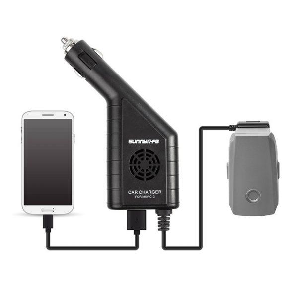 Caricabatteria 2 in 1 con caricabatteria USB da auto per DJI MAVIC 2 PRO ZOOM.jpg 640x640