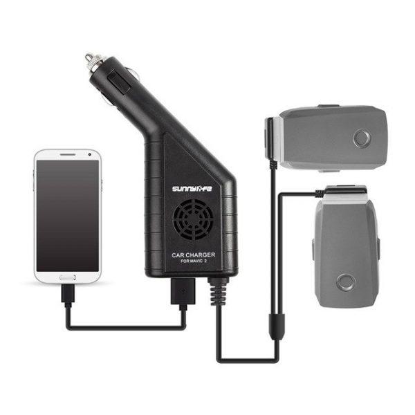 3 dans 1 Batterie Chargeur avec USB Chargeur De Voiture pour DJI MAVIC 2 PRO et.jpg 640x640