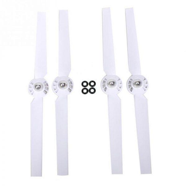 355x70mm ABS et Verre Efficace Silencieux Fiber H lices Rotor Blade Set pour YUNEEC Typhon Q500M blanc