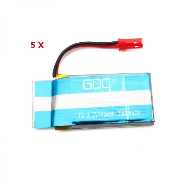 37v 750mah 25c battery for wltoys v626 v636 rc quadcopter 5pcs