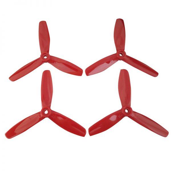 4 pezzi elica a 3 lame per MJX B6 B6W B6F B6FD B8 B5W F20 B8 rosso