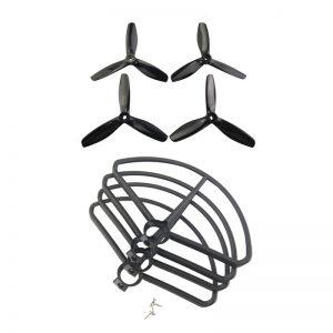 Set di protezioni per eliche 4PCS per MJX B5W F20 Bugs 5W RC Drone Quadcopter Pezzi di ricambio nero