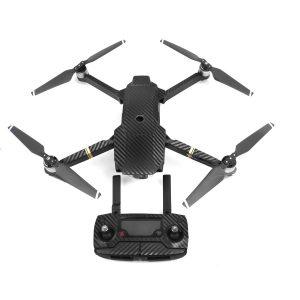 7 adesivi grafici in carbonio con tinca a colori per DJI MAVIC PRO decalcomanie in pelle a colori per corpo drone nero
