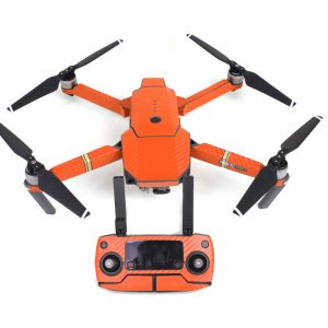 7 couleur tanche Carbone Graphique Autocollants pour DJI MAVIC PRO Color Peau Stickers pour Drone Corps orange