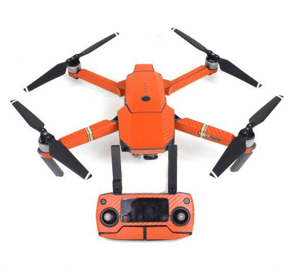 Adesivi grafici in carbonio a 7 colori tench per DJI MAVIC PRO Decalcomanie in pelle colorata per Drone Body arancione