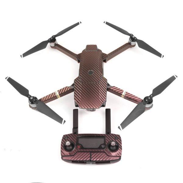 7 adesivi grafici in carbonio con tinca a colori per DJI MAVIC PRO Decalcomanie in pelle a colori per corpo drone viola giallo
