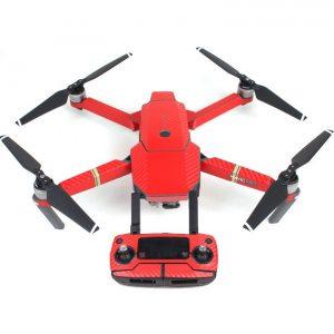 7 adesivi grafici in carbonio con tinca a colori per DJI MAVIC PRO decalcomanie in pelle a colori per corpo drone rosso