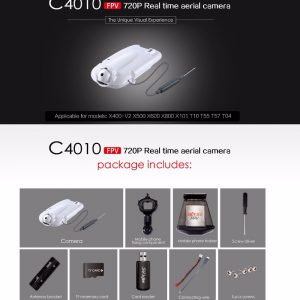 Newest Update C4010 FPV WIFI 720P HD Camera for MJX X400 V2 X500 X600 X800 X101