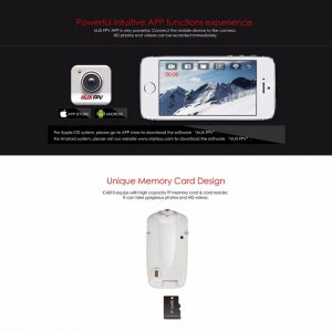 Newest Update C4010 FPV WIFI 720P HD Camera for MJX X400 V2 X500 X600 X800 X101201