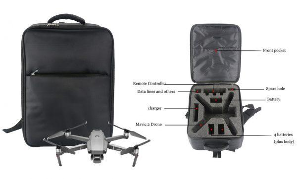 Zaino Mavic 2 resistente all'usura per accessori per droni Zoom DJI Mavic 2 Pro