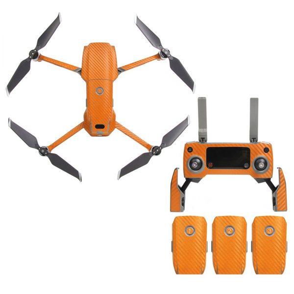 Sunnylife Fusoliera T l control Battery Wrap Adesivi per pelle in fibra di carbonio per arancione