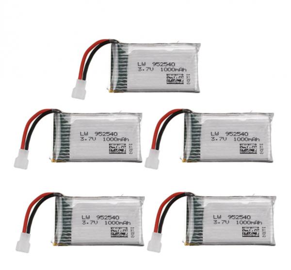 Syma X5 X5C X5SC X5SW TK M68 CX30 K60 90520V931 batteria 1000mah 5 pezzi