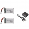 Syma X5 X5C X5SC X5SW TK M68 CX30 K60 90520V931 battery batterie charger chargeur 1000mah 2pcs