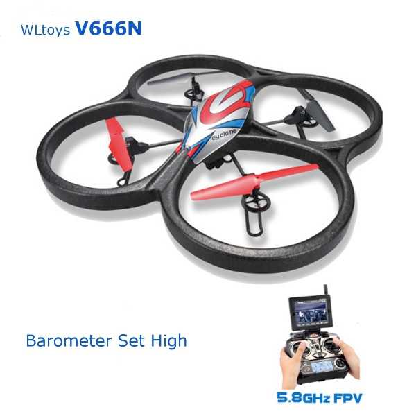 WLtoys V666N 5 8G FPV Barometer Set High RC Quadcopter with HD Monitor RTF