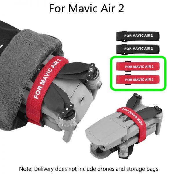 dji mavic air 2 propeller holder stabilisateur protection helices rouge