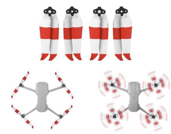 dji mavic air 2 eliche 7238F eliche 4 pezzi bianco rosso