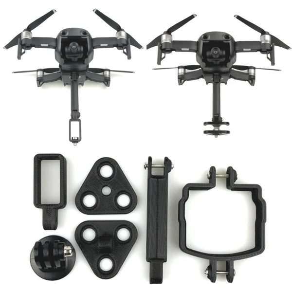 dji mavic gopro 360 degree holder camera gimbal