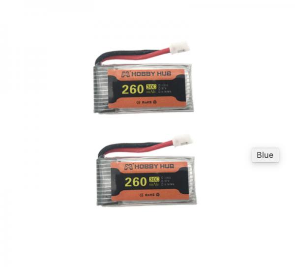 eachine e010 e011 e012 e01 furibee f36 battery batterie 260mah 2pcs