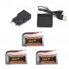 eachine e010 e011 e012 e01 furibee f36 battery batterie charger 260mah 3pcs