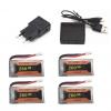 eachine e010 e011 e012 e01 furibee f36 battery batterie charger 260mah 4pcs