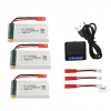 jjrc h11c h11d battery batterie 1200mah charger 3pcs