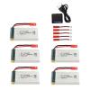 jjrc h11c h11d batteria 1200 mah caricatore 5 pezzi