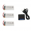 syma X5 X5C X5SC X5SW battery batterie charger chargeur usb 1800mah 3pcs