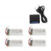 syma X5 X5C X5SC X5SW battery batterie charger chargeur usb 1800mah 4pcs