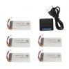 syma X5 X5C X5SC X5SW battery batterie charger chargeur usb 1800mah 5pcs