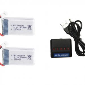 syma X5 X5C X5SC X5SW Akku Ladegerät USB-Ladegerät 800mah 2St