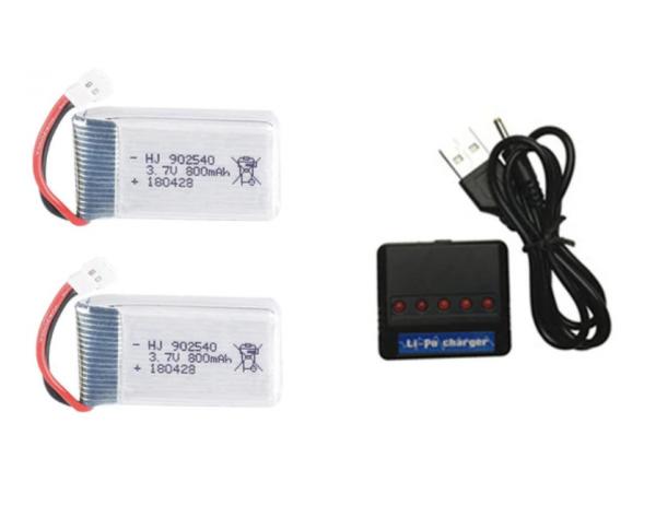 syma X5 X5C X5SC X5SW battery batterie charger chargeur usb 800mah 2pcs