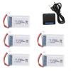 syma X5 X5C X5SC X5SW battery batterie charger chargeur usb 800mah 5pcs
